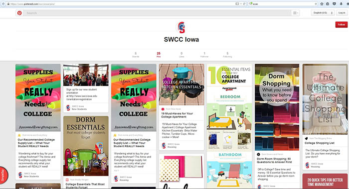 SWCC Pinterest Page