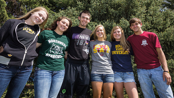SWCC Students Wearing Transfer College Shirts