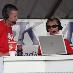 Matt Thompson and Terri Higgins on the radio