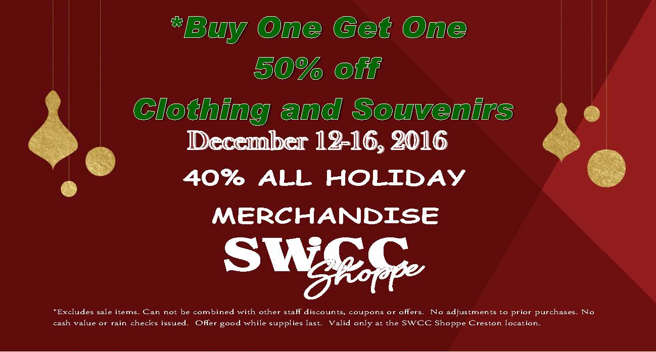 SWCC Shoppe Holiday Sale Ad