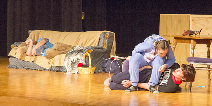 Scene from 2016 Drama Club fall plays