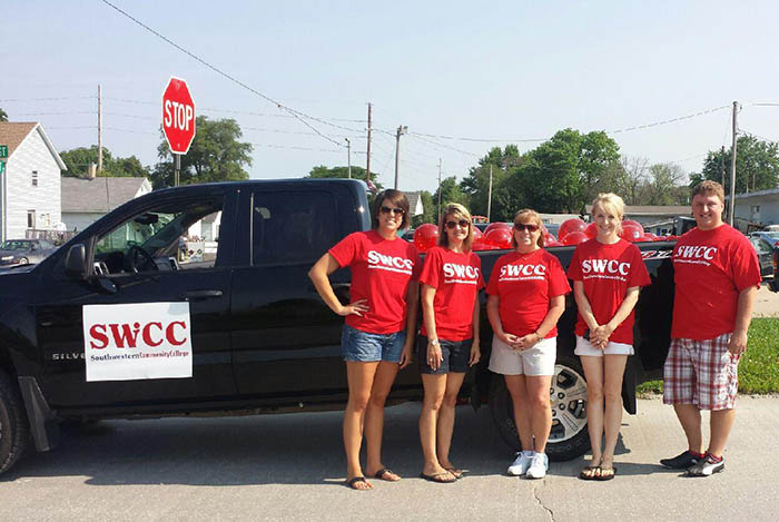 SWCC Staff Members in front of SWCC truck