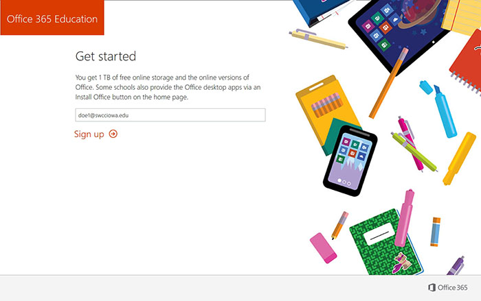 Office 365 Homepage graphic