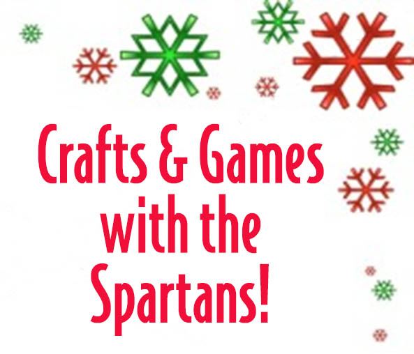 Crafts and Games with the Spartans with snowflake design