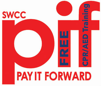 Pay It Forward Logo with CPR/AED Training