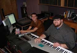 Students in studio