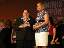 Students On Stage at National BPA Contest