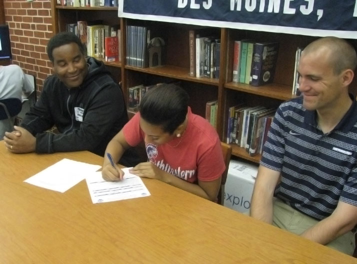 Justice Post signs with Spartan Track and Field