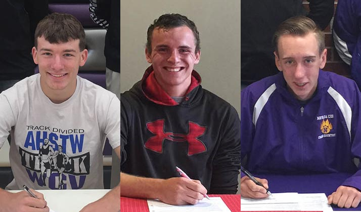 Clay, Maag, and Trygstad sign with the Spartans