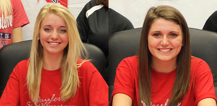 Baker and Skarda sign with the SWCC Drill Team