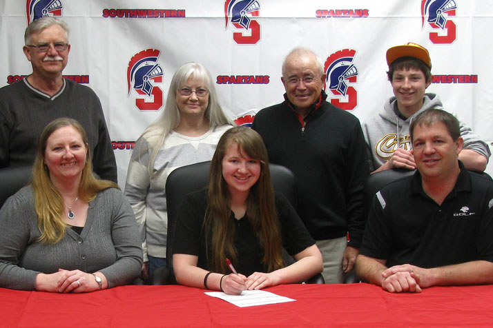 Evy Wells signs with Spartan Golf