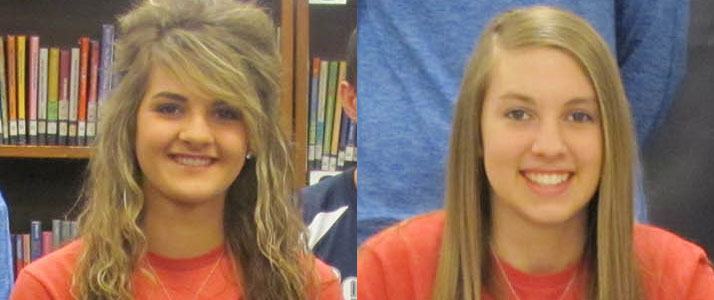 Callie Beason and Allie Shields Sign with Spartan Volleyball