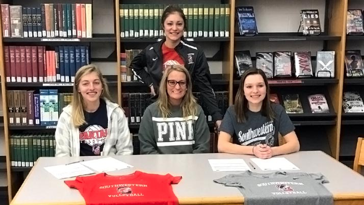 Ashley Porter and Hannah Ryan sign with Spartan Volleyball