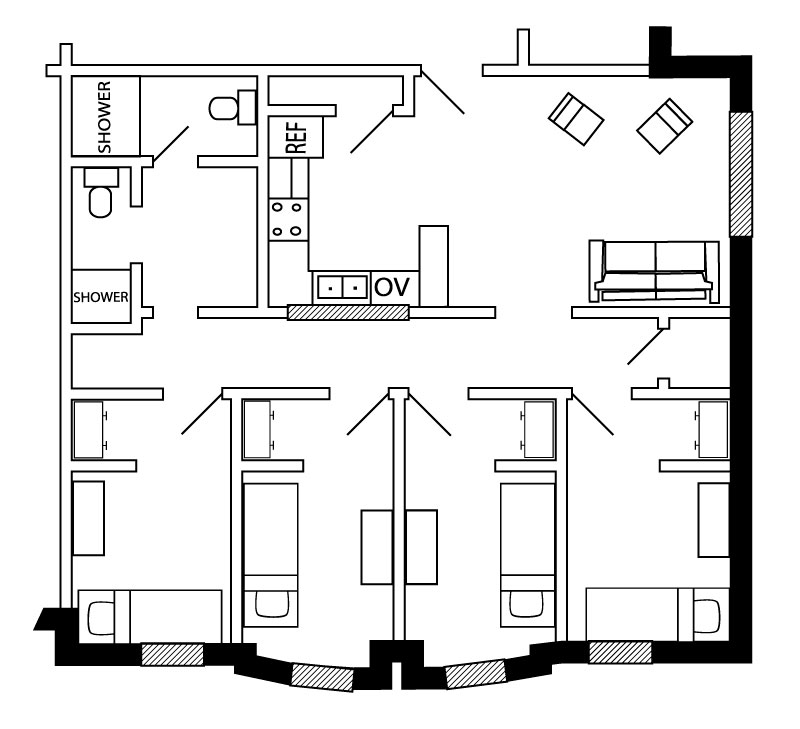 Spartan Hall layout