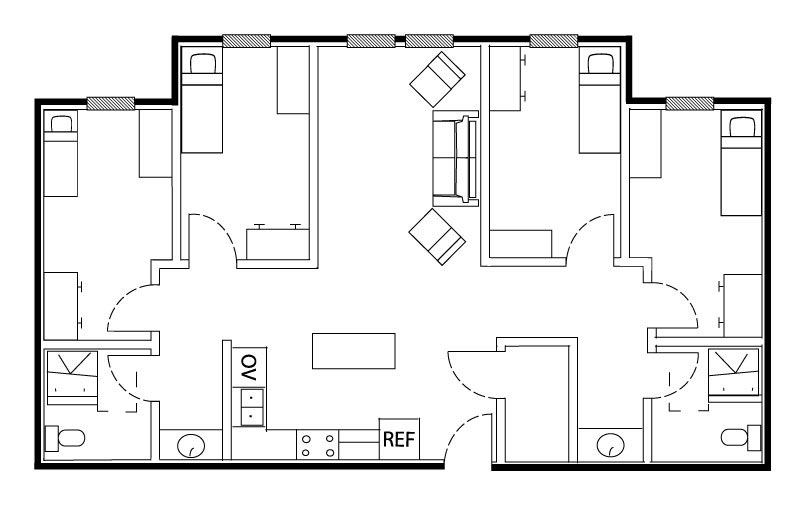 spartan court layout