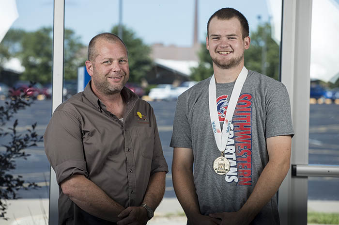 SWCC instructor Josh Keul and national SkillsUSA champion Cory Marquardt