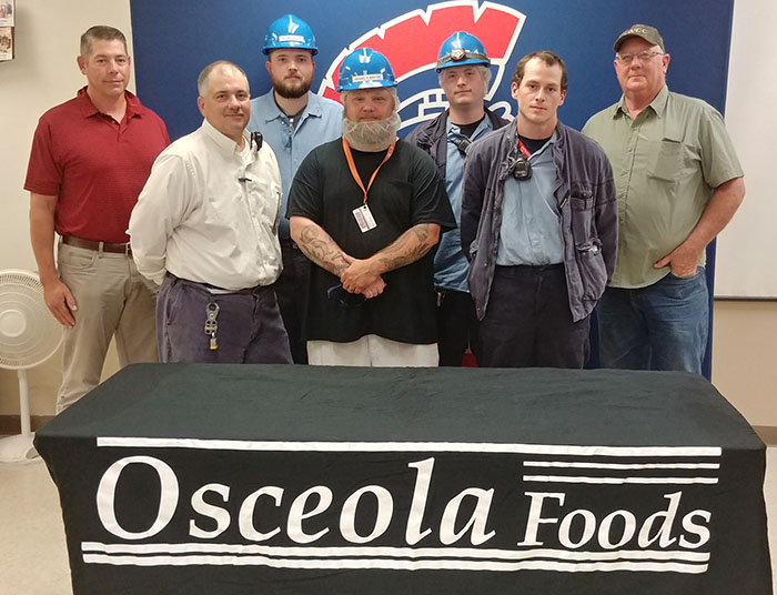 Osceola Food employees with SWCC instructor