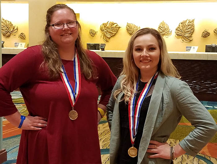Shawna Abell and Jenna Shepherd at BPA National Conference