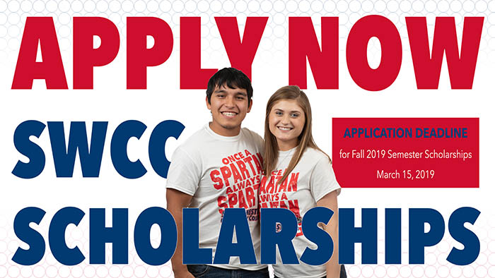 Fall 2019 Scholarship Graphic with two SWCC students