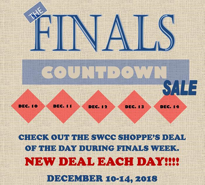 Finals Countdown Sale at SWCC Shoppe Dec. 10-14