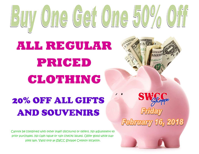 BOGO Sale graphic with piggy bank