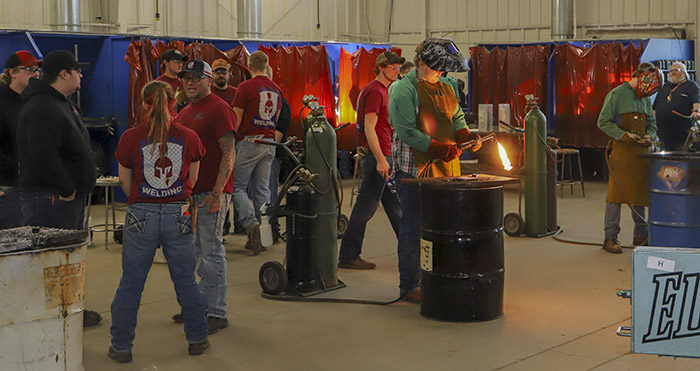 Students competing during the 2019 Welding Skills Challenge