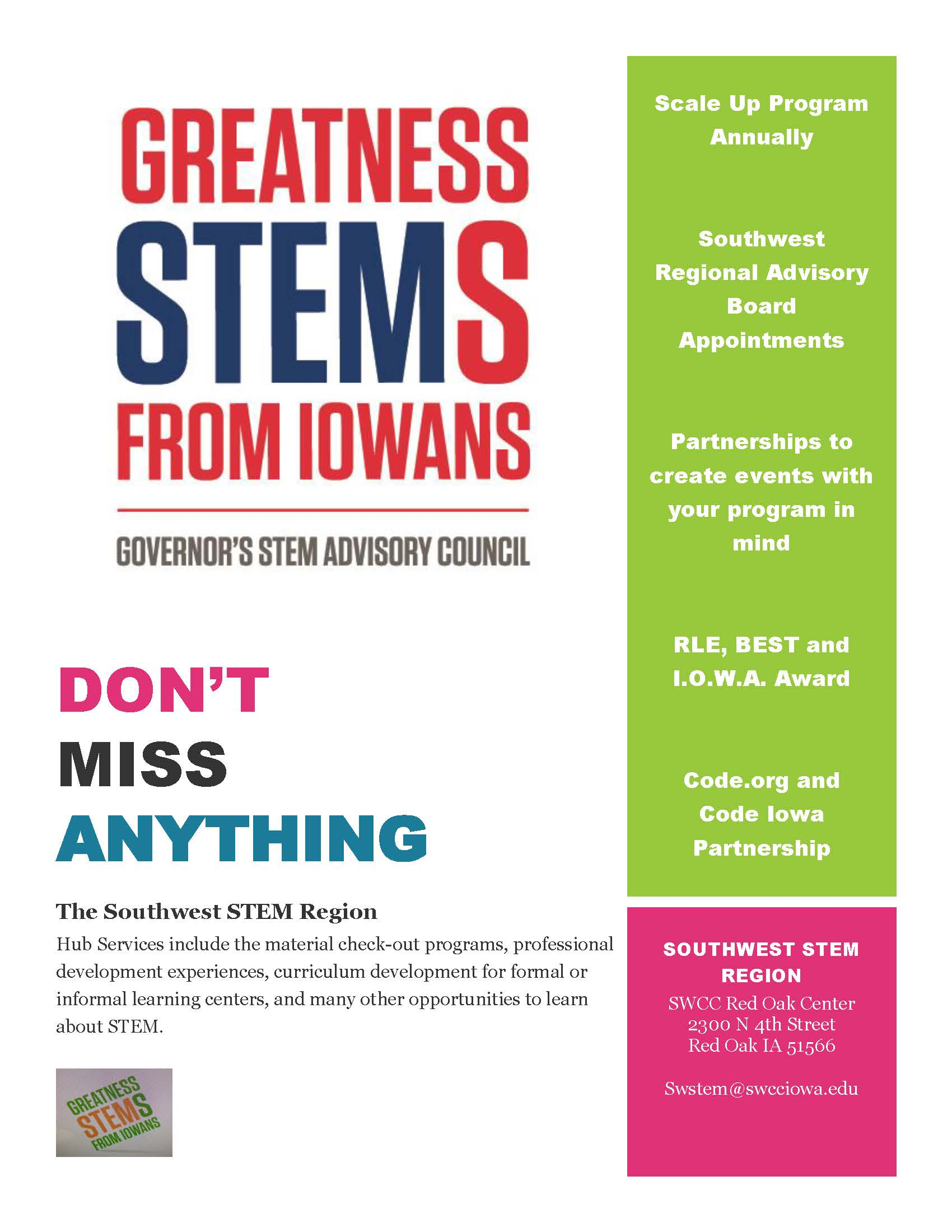 STEM Newsletter Graphic with logo