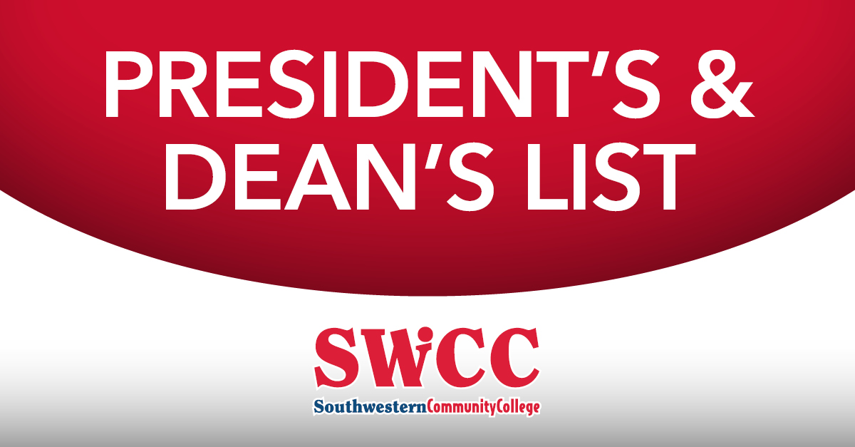 Dean's and President's List graphic